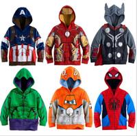 Wholesale 6 design Big hero boys Hoodies Spring Autumn Sweatshirts zipper hooded Outwear Coat for T boys