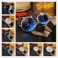 Wholesale 2016 New Retro Rome Dial Quartz Watches Classic Leather Band Sapphire Waterproof Mens Watches Colors Fashion Designer Couples Watch