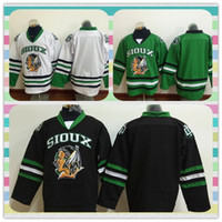 Wholesale New Product Men Hockey Jersey Custom Name And Number North Dakota Fighting Sioux Hockey Jersey Green University Throwback Stitched Jerseys