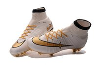 Wholesale 2016 Mercurial Superfly CR7 FG Soccer Boots Best Quality Mens Magista Obra New Cristinao Ronaldo Football Boots Hypervenom Phantom Cleats