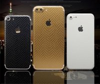 Wholesale Hot Sale Black Full Body Decal Skin PU Phone Protective Sticker Wrap For iphone S sPlus plus Phone Cases Shell Capa