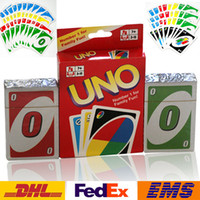 Wholesale Playing Cards Family Funny Entertainment Board Game UNO Playing Cards Puzzle Games Board Games Standard Uno Cards Games WX T90