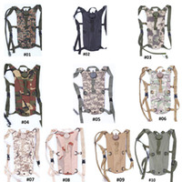 Wholesale Outdoor Sports Climbing Hiking Riding Camouflage Foldable Water Backpack Bag