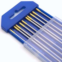 Wholesale 2 mm x7inch x10pcs WL15 gold Lanthanated Tungsten electrode for TIG Welding