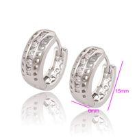 huggies - Hot Sell Huggies Rhodium Plated Earrings For Women Zirconia Copper Wedding Earrings Xuping Brand Jewlery Huggie For Wedding