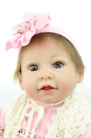 Cheap High Quality 2015 Lovely Newborn Baby Dolls 22inch Lifelike Silicone Reborn Babies Soft Real Looking Toys
