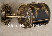 Wholesale Hot Sale And Retail Promotion Luxury Wall Mounted Bathroom Antique Brass Toilet Poper Holder Flower Carved Box