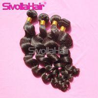 Wholesale Unprocessed Hair Hair Bundles A Brazilian Unprocessed human Hair Loose Wave Extension DHL