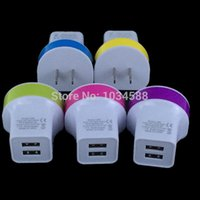 apple ipad power supply - Colorful A Dual usb port power supply wall charger adapter for apple iphone for ipad for samsung