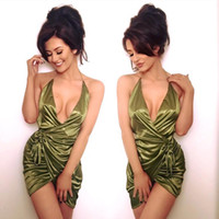 army outfits - Oh Polly Holy Wrap Dress Fashion Boutique Outfit Combo Satin Strappy Wrap Mini Plunge Asymmetric Sexy Party Dress