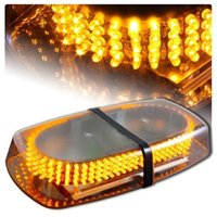Wholesale Amber Emergency Hazard Warning LED Mini Bar Strobe Light w Magnetic Base Engineering school bus fire patrol Clear the way light