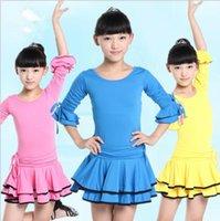 Wholesale Kid Grils Dancewear Dance Dress Clothes Dance Latin Dance Skirt Dress Child Girls Kid Latin Dresses Girls Latin Dance Costumes
