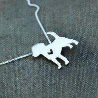 beagle colors - 1PCS Summer fashion cute Beagle dog necklace metal cartoon dog pendant jewelry Silver gold colors plated