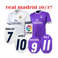Wholesale Top Thai Real Madrid Soccer Jerseys RONALDO home away third Football shirts BALE BENZEMA MARCELO MODRIC SERGIO RAMOS Soccer ET