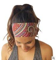 Wholesale 2016 New women girl sport yoga fabric flower turban headband scrunchy headbands elastics hair accessories for hair head bands hairband