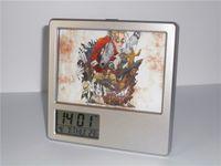 Wholesale New Trigun Vash Creative Digital Alarm Clock Multi function Desk Clock Calendar Pen Holder Photo Frame Alarm Clock