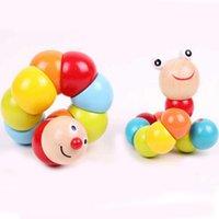 best caterpillar - New wooden toys for Kids Color Twist Caterpillar Cute Wooden Caterpillar Children s Toys Best Gift for Children