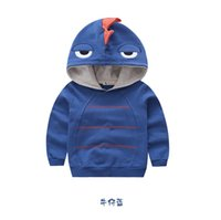 baby woolen sweater design - Brand New Boy s Cartoon Jackets Children Autumn Winter Dinosaur Design Outerwear Hoodies Baby Kids Cotton Coats Color Sweaters