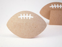 baby sports theme - Football shaped Place cards Wedding bridal baby shower sports theme Party seating table number name Tented Escort Card