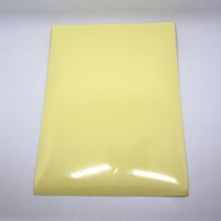 adhesive printer paper - 21 cm Clear PET Self Adhesive Printer A4 Kraft Paper Sticker for Party Wrap x11 quot Printing Label For Laser Printer