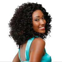 Wholesale 2016 Hot Black Women s Wig Curly Short Full Wig Coiffure afro Haircut