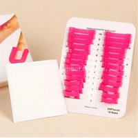 Wholesale 50Pack Women Manicure Tool Nail Gel Model Clip Gradient Print Nail Polish Glue Overflow Prevention Tool Size