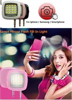 Wholesale Mini Portable Led Dimmable Selfie Light Fill in light Flash smartphone light with retail box