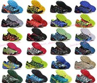 barefoot running style - Men s Speedcross Outlet Mens Hiking Running Shoes Barefoot Solomons Sports Shoes Zapatillas Newest Style Pure Black Colorways