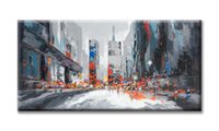 big canvas paintings - 2016 Abstract big modern city handpanited oil Painting on canvas