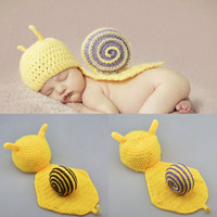 baby boy photo - New Arrival Hot Baby Newborn photography props snails Knit Crochet Clothes Beanie Hat Outfit Photo Props Drop