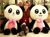 80 cm panda peluche ours en peluche ours poupée ours hug poupées pour envoyer à sa petite amie un cadeau d'anniversaire de la Saint-Valentin Livraison gratuite