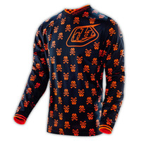 Wholesale NEW Troy Lee Designs TLD GP MX Jersey Anarchy Black Flo Orange Men s MTB Mountain Bike T shirt Downhill Mo
