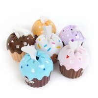 Wholesale New Lovely Adorable HOT Useful Cupcake Tissue Box Towel Holder Paper Container Dispenser Home Decor