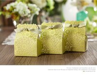 airs candy boxes - 2016 New fresh air green color flower wedding favor box party favors candy box gift box chocolate box party supplies