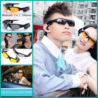 Cheap Wireless Flip-up Bluetooth Sunglasses Headset Stereo MP3 Music Glasses Earphone Headphone for Phone Hands-free   Tablet PC PK VR-BOX