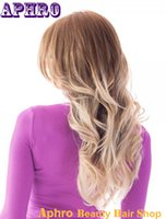 ombre lace front wig - Premium Brown Platinum Blonde Full Lace Silk Top Human Hair Wigs Density Ombre Virgin Brazilian Hair Glueless Lace Front Wigs