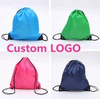 Wholesale Custom Sack Bag Drawstring Backpack for man and women ladies girl folding Sport Bag Sackpack printed LOGO advertising shopping storage bag