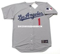 angeles bowls - BILLY GRABARKEWITZ Los Angeles Dodgers Majestic Cooperstown Baseball Jersey