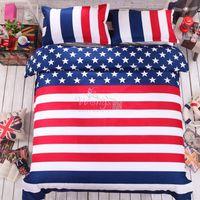 bedding sizes usa - American flag bedding set twin size USA UK flag bedding queen king British flag quilt duvet cover set