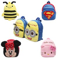 Wholesale New cute cartoon kids plush backpack toys mini schoolbag Children s gifts kindergarten boy girl baby student bags lovely Mochila