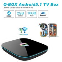 Cheap Q Box Amlogic S905 Quad core Android 5.1 Digital Satellite Receiver Full Loaded 2G 16G KODI 16.0 H.265 4K Wifi Bluetooth Media TV Box