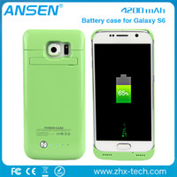 Wholesale Rechargeable External backup mobile charger portable cell phone battery power bank charger case for Samsung s6