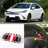 Wholesale 2pcs Brand New High Quality Alloy Add On Steering Wheel DSG Paddle Shifters Extension For Toyota Levin