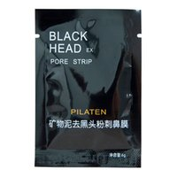 Wholesale black mask PILATEN Tearing style Deep Cleansing purifying peel off Black head Close pores facial mask head pore strips