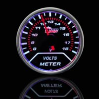 Wholesale Car Motor Universal Smoke Len quot mm Indicator Volt Voltage Gauge Meter motor cargo motor mania
