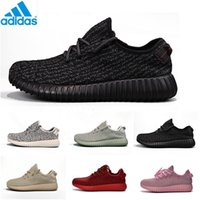 Cheap With Original Box 2016 Adidas original Kanye Milan West Yeezy 350 Boost Classic black grey women Fashion Sneaker Shoe Free Shipping With Box