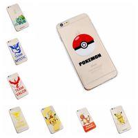 apple themes - PokéMon Go Theme Iphone s Cases Pocket Monster Character Soft TPU Backcover Light Cover Case Designs Poke Mon Go Transparent Cases