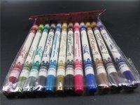 Wholesale 12 Colors Eyeliner Lip Pencil New M n Brand Eye Make Up Eyeliner Pencil Beauty Pen Eye Liner Lip sticks Cosmetics