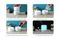 Wholesale 2016 ml LED Aroma Humidifier Aromatherapy Essential Oil Diffuser Ultrasonic Cool Mist Function for Home Office Bedroom Room ST98 A DHL