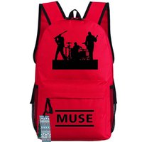 alternative backpacks - Red Muse backpack Alternative rock Matthew Bellamy school bag High level Pop music band day pack Hot sale daypack